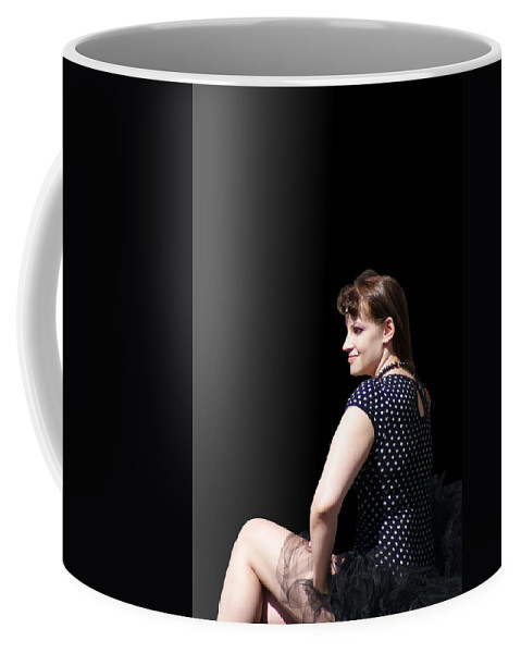 Woman Coffee Mug featuring the photograph A Dark Ballerina by Jean Haynes