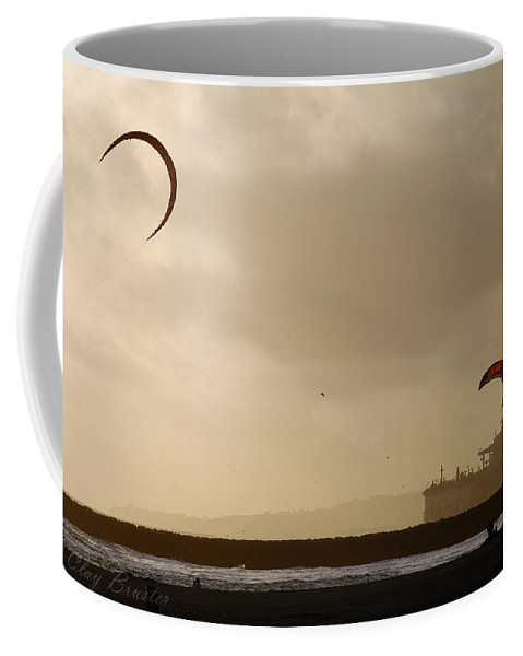 Clay Coffee Mug featuring the photograph A Day At The Beach by Clayton Bruster
