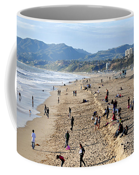 Clay Coffee Mug featuring the photograph A Day At The Beach In Santa Monica by Clayton Bruster