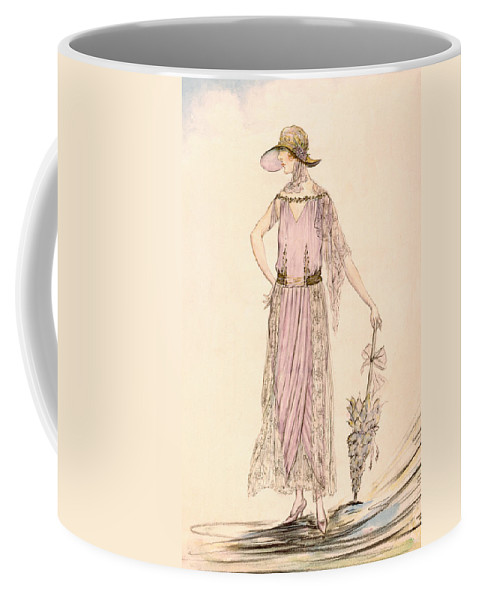 Flapper Coffee Mug featuring the painting A Day Dress by English School