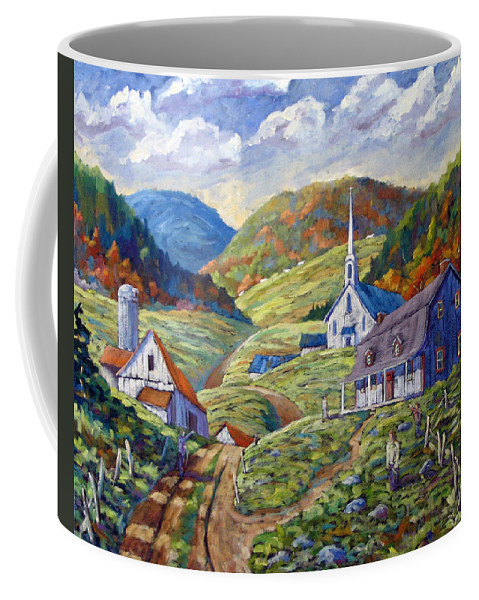 Landscape Coffee Mug featuring the painting A Day In Our Valley by Richard T Pranke