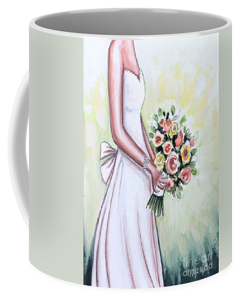 Bride Coffee Mug featuring the painting A Day To Remember by Elizabeth Robinette Tyndall