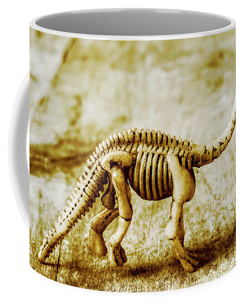 Bone Coffee Mug featuring the photograph A Diploducus Bone Display by Jorgo Photography - Wall Art Gallery
