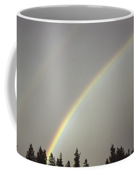 United States Coffee Mug featuring the photograph A Double Rainbow by Stacy Gold