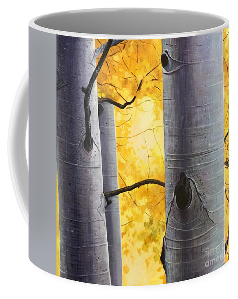 Aspen Coffee Mug featuring the painting A Dream That We All Share by Hunter Jay