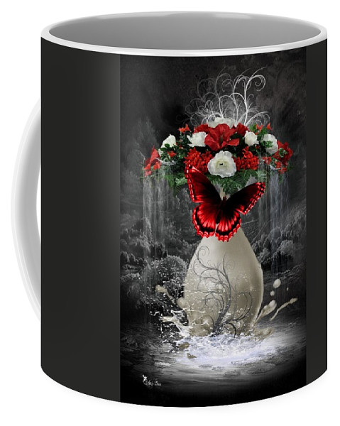 Fantasy Coffee Mug featuring the digital art A Drop Of Nature by Ali Oppy