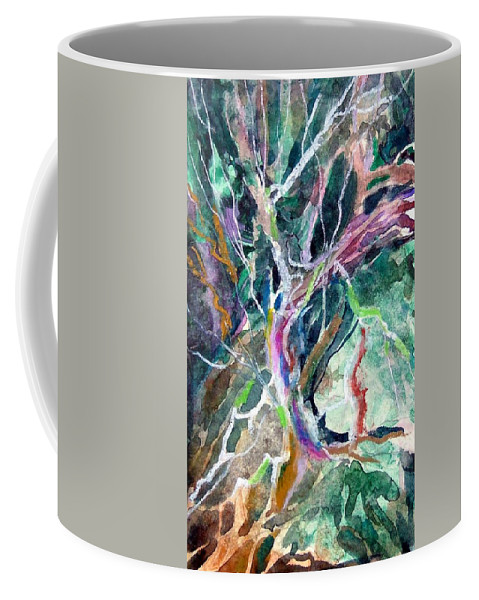 Tree Coffee Mug featuring the painting A Dying Tree by Mindy Newman
