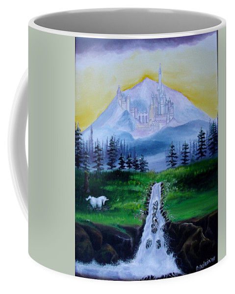 Landscape Coffee Mug featuring the painting A Fairytale by Glory Fraulein Wolfe