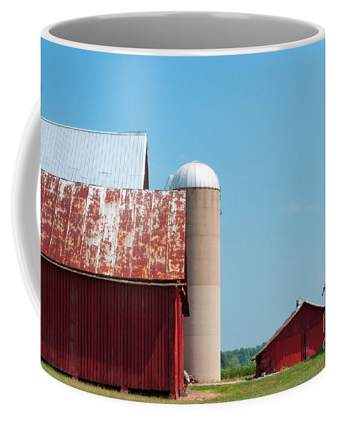 Farm Coffee Mug featuring the photograph A Fine Day For Farming by Paulette B Wright