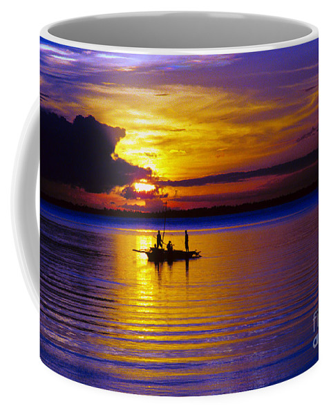 Sunset Coffee Mug featuring the photograph A Fisherman's Sunset by James BO Insogna