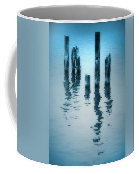 Blue Coffee Mug featuring the photograph A Fleeting Blue by Tara Turner