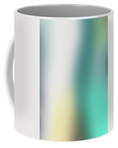 Abstract Coffee Mug featuring the mixed media A Fleeting Glimpse 2- Art By Linda Woods by Linda Woods