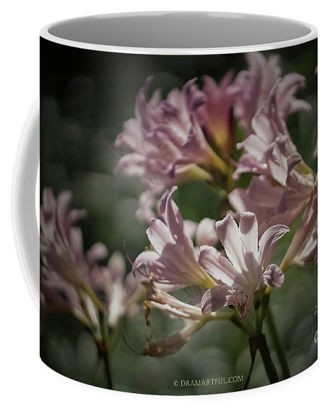 Outdoors Coffee Mug featuring the photograph Peppermint Surprise Lily - A Floral Abstract by Maria Costello