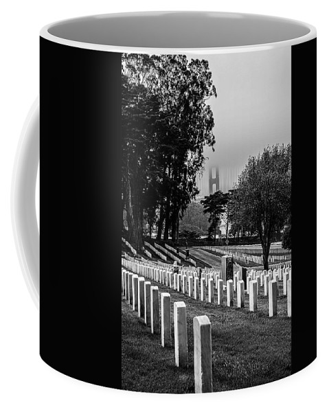 California Coffee Mug featuring the photograph A Foggy Garden Of Stone by Tommy Anderson