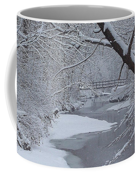 Snow Coffee Mug featuring the photograph A Forgotten Place by Frozen in Time Fine Art Photography