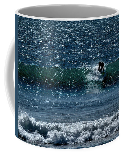 Surfing Coffee Mug featuring the photograph A Free Ride by Michael Gordon