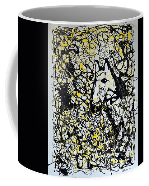 Abstract Coffee Mug featuring the painting A Friendly Face by J R Seymour