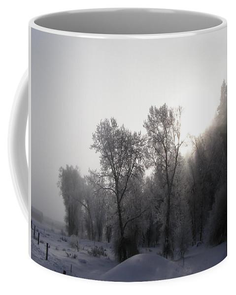 Winter Coffee Mug featuring the photograph A Frosty Morning by DeeLon Merritt