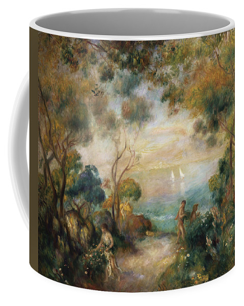 Garden Coffee Mug featuring the painting A Garden In Sorrento by Pierre Auguste Renoir