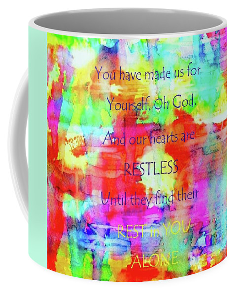 Impressionistic Coffee Mug featuring the painting A God-shaped Hole by Hazel Holland