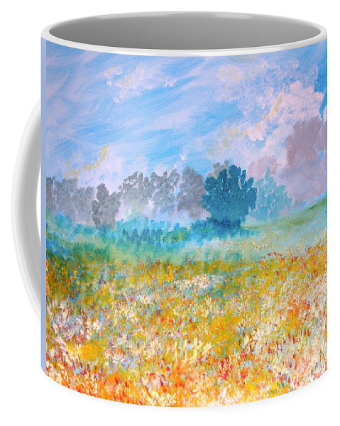 New Artist Coffee Mug featuring the painting A Golden Afternoon by J Bauer