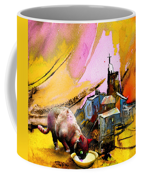 Fantasy Coffee Mug featuring the painting A Good Catholick by Miki De Goodaboom
