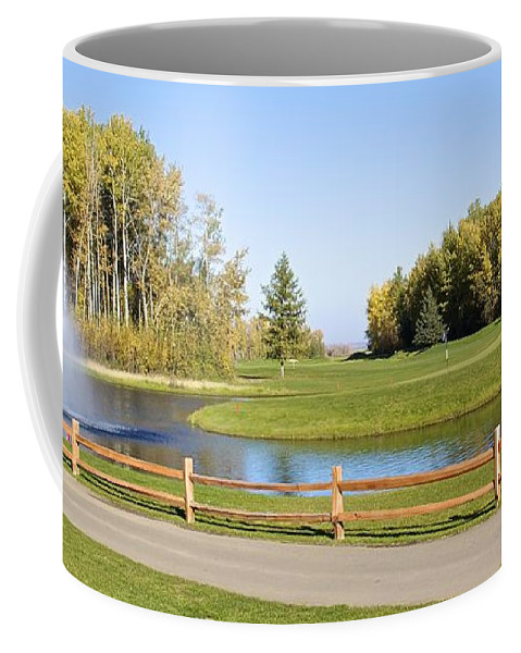 Golf Coffee Mug featuring the photograph A Great Day For Golf by Alanna DPhoto