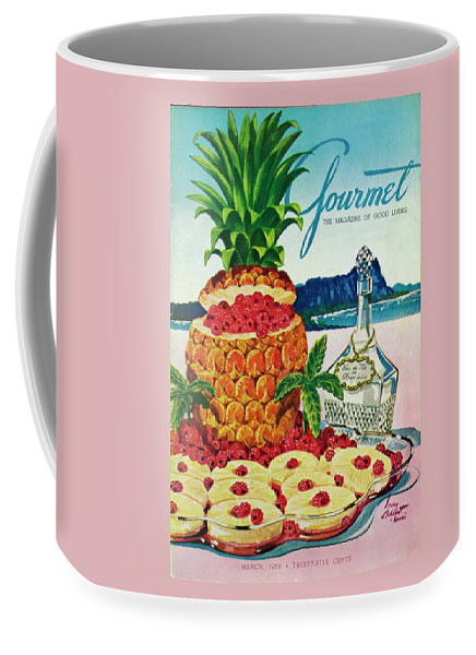 Food Coffee Mug featuring the photograph A Hawaiian Scene With Pineapple Slices by Henry Stahlhut