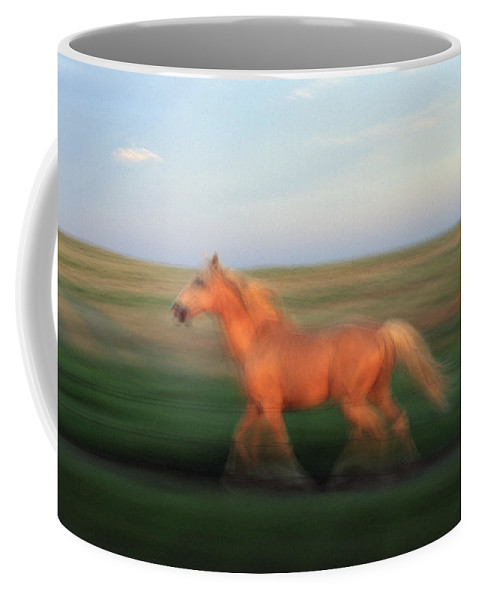 Horse Coffee Mug featuring the photograph A Horse At Sandal Ranch Near Howes by Joel Sartore