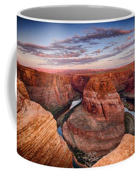 Horseshoe Bend Coffee Mug featuring the photograph A Horseshoe Bend Morning by Saija Lehtonen