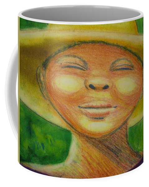 Drawing Coffee Mug featuring the drawing A Hot Summer Day by Jan Gilmore