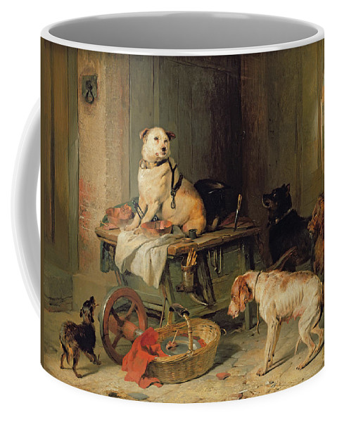 Jack Coffee Mug featuring the painting A Jack In Office by Sir Edwin Landseer