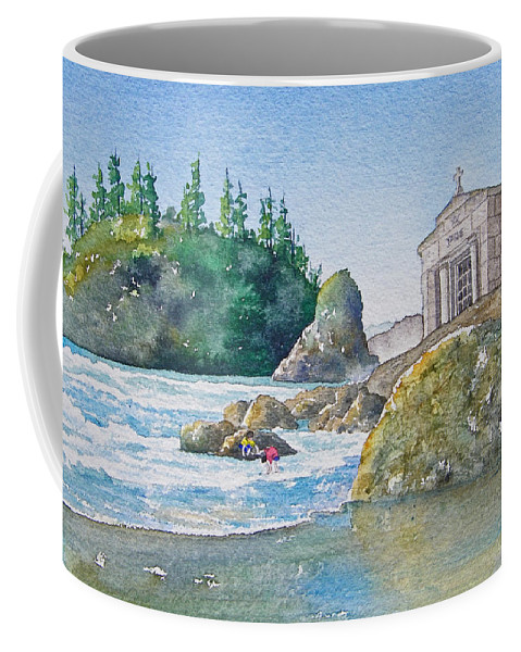 Ocean Coffee Mug featuring the painting A Kingdom By The Sea by Gale Cochran-Smith