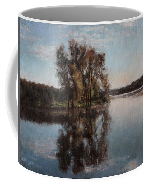 Realism Coffee Mug featuring the painting A Lake by Darko Topalski
