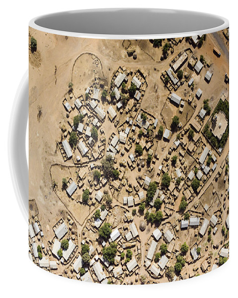 Landscape Coffee Mug featuring the photograph A Large Sahelian Town In Western Mali by Michael Fay