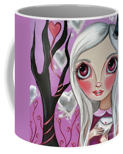 Art Coffee Mug featuring the painting A Letter From My Valentine by Jaz Higgins