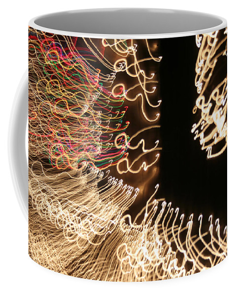 Abstract Coffee Mug featuring the photograph A Light Abstraction by Ric Bascobert