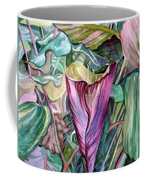 Garden Coffee Mug featuring the painting A Light In The Garden by Mindy Newman