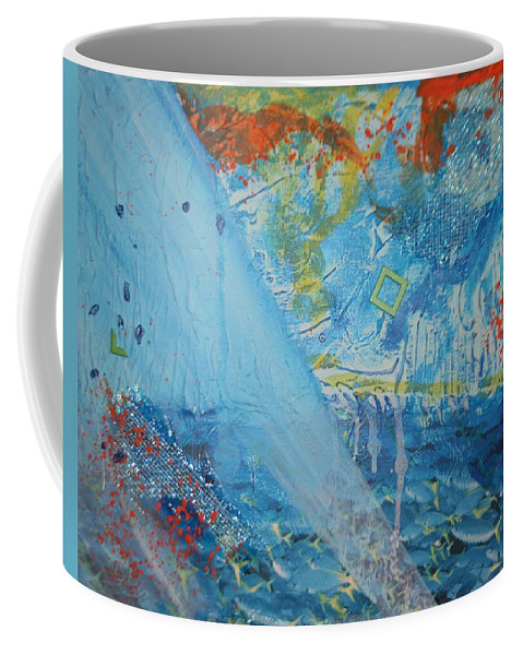Paper Coffee Mug featuring the painting A Light Shines Down by Betty-Anne McDonald