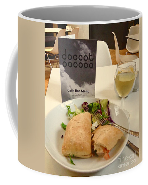 The Lighthouse Coffee Mug featuring the photograph A Lighthouse Lunch by Joan-Violet Stretch