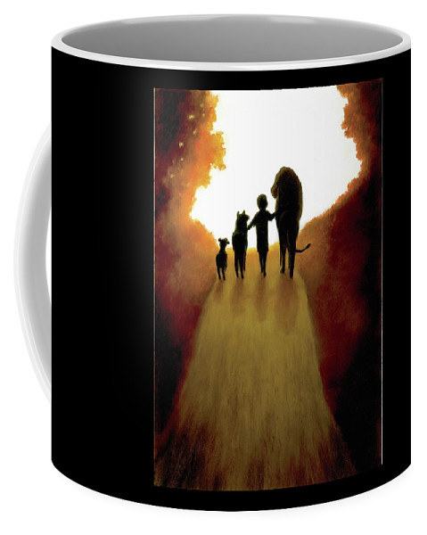 Child Coffee Mug featuring the pastel A Little Child Will Lead Them by Gale Smith