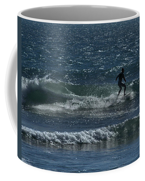 Surfing Coffee Mug featuring the photograph A Long Ride by Michael Gordon