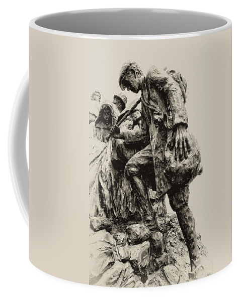 Philadelphia Coffee Mug featuring the photograph A Long Way To The Top by Bill Cannon