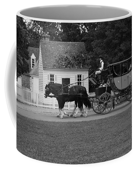 Horses Coffee Mug featuring the photograph A Look Back by Eric Liller