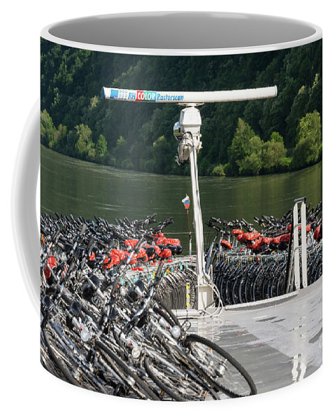 Austria Coffee Mug featuring the photograph A Lot Of Bikes by Bob Phillips