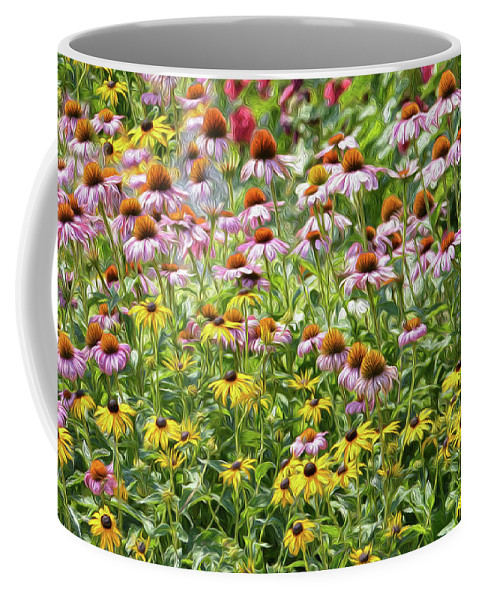 Floral Coffee Mug featuring the photograph A Lover's Picnic by Tracie Fernandez