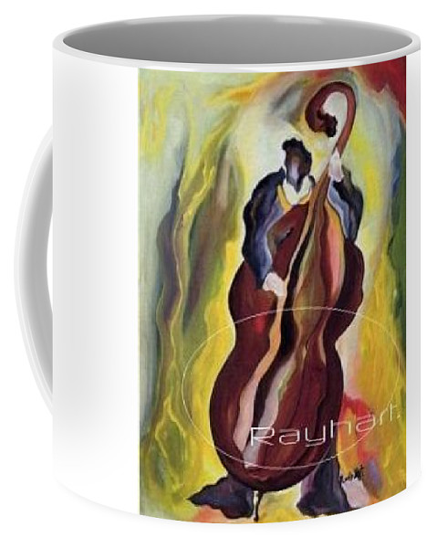 Abstract Musical Expression Coffee Mug featuring the painting A Low End Theory - Sold by Artist Rayhart