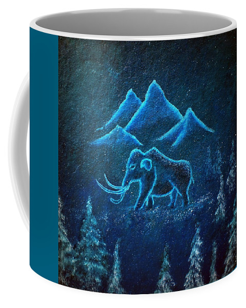 Mammoth Coffee Mug featuring the painting A Mammoth Journey by Philip Harvey