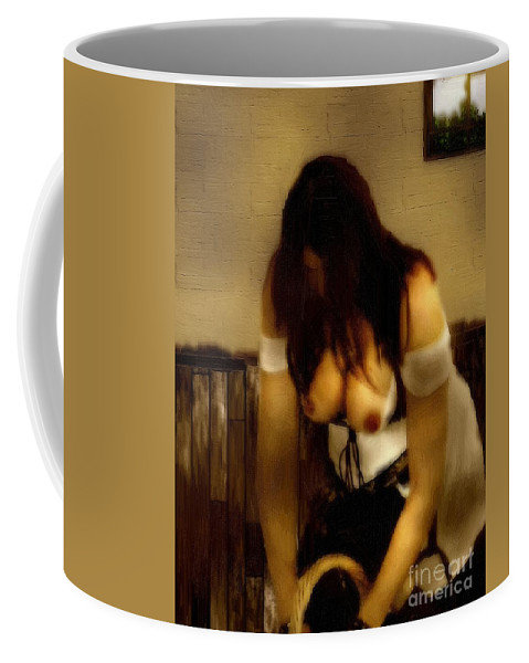 Kitchen Coffee Mug featuring the painting A-maying We Will Go by RC DeWinter