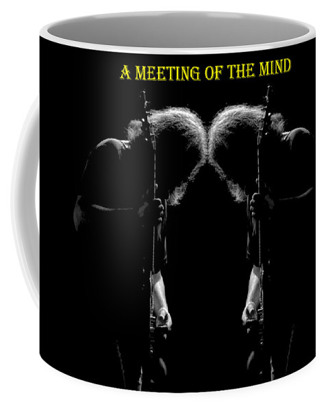 Jerry Garcia Coffee Mug featuring the photograph A Meeting Of The Mind by Ben Upham